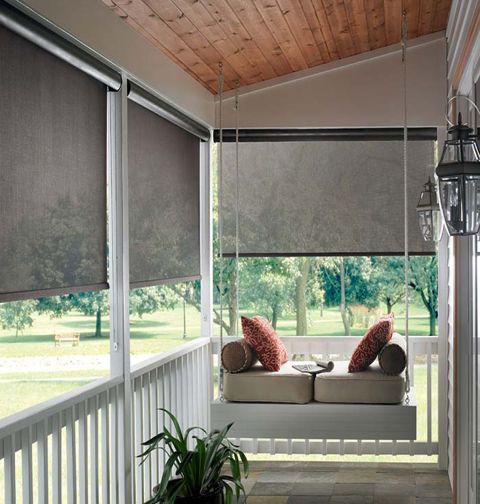 Sunscreen Roller Shades Patio Outdoor Sunscreen Roller