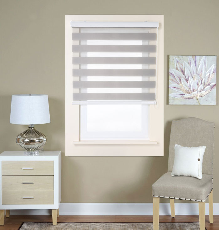 Roller Blinds With Sheer Curtains Roller Blinds With