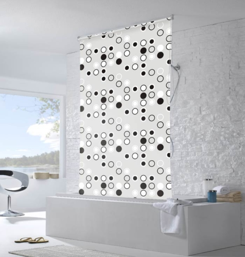 Roller Blind Shower Curtain Roller Blind Shower Curtain