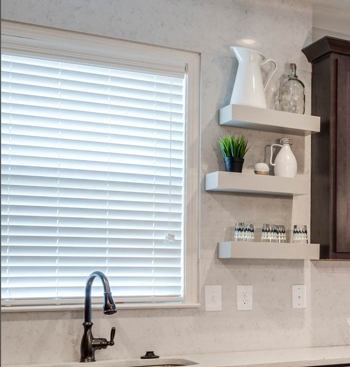 50mm White Wooden Venetian Blinds Wide 50mm White Wooden Venetian