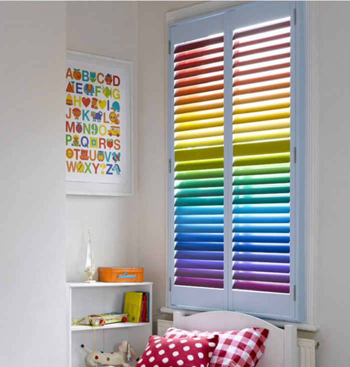 Classroom Design For The Blind ~ Rainbow venetian blinds custom plastic