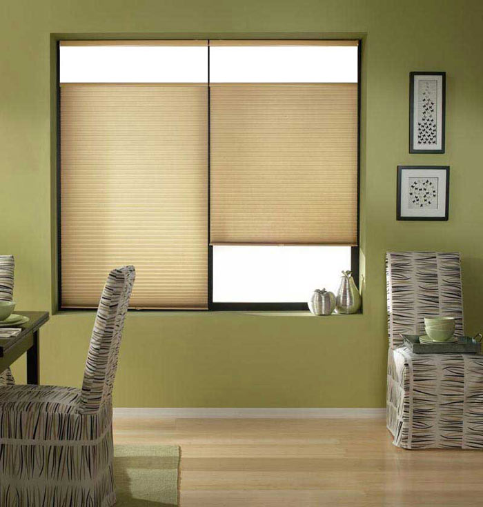 Customized Pleated Shades For Patio Doors