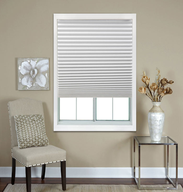 Cheap Pleated Shades Easy Fitting White Cheap Pleated Shades
