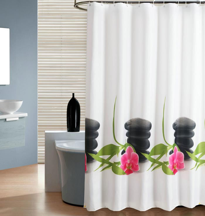 Clear Shower Curtain With Design Pretty Clear Shower
