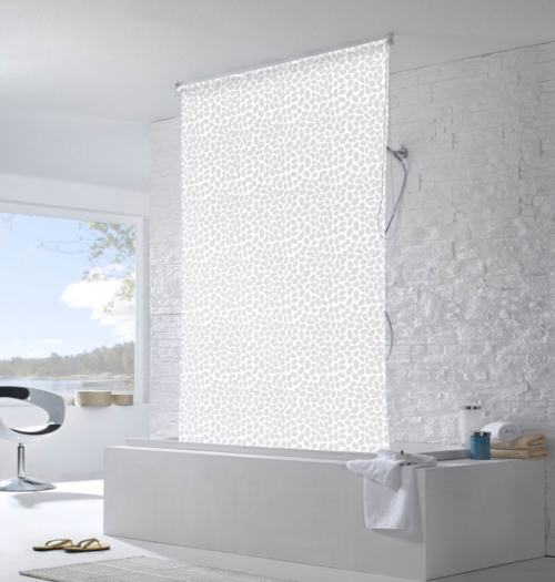 Roller Blind Shower Curtain