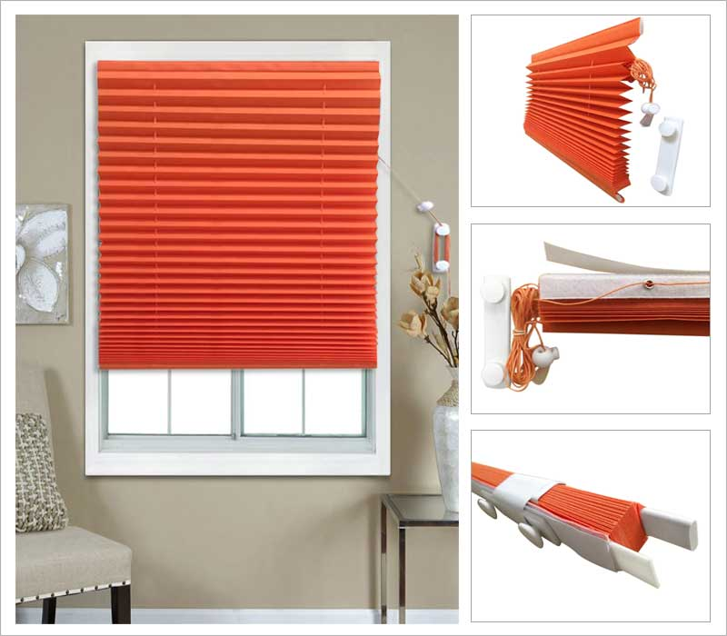 Temporary Pleated Blinds Prefect Fit Temporary Pleated