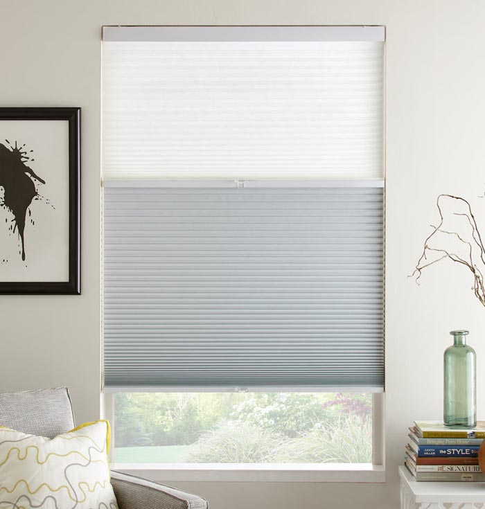Double Cell Honeycomb Shades Top Down Double Cell Honeycomb Shades