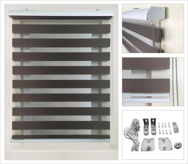 Roller Blinds With Sheer Curtains Nrtradiantcom