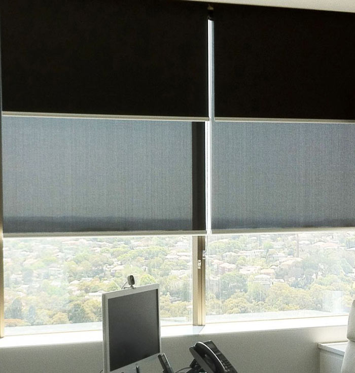 Roller Blind Double Bracket Contemporary Roller Blind