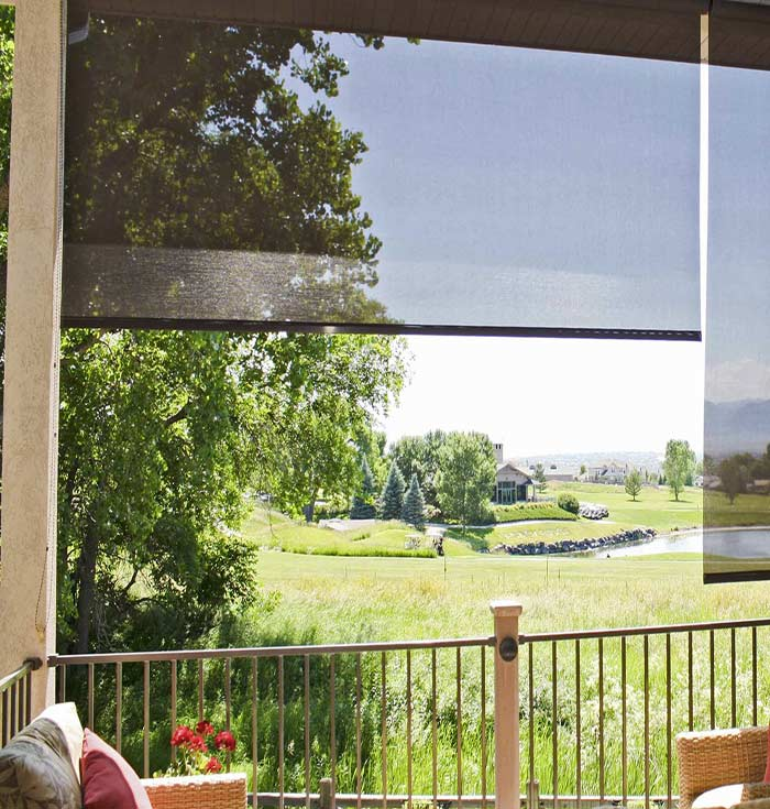 Outdoor Sunscreen Roller Blinds Outdoor Sunscreen Roller